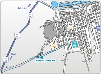Localização da Madeiras Cidade Azul